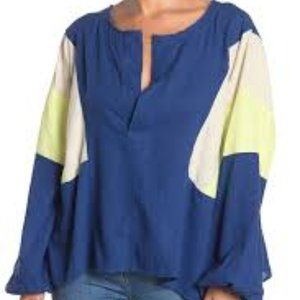 Free People Beating Hearts Linen Oversized Top XS
